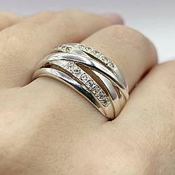Серебряное кольцо Пересечение колец