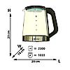 Чайник электрический  Haeger HG-7846 (2.3 л) | электрочайник, фото 3