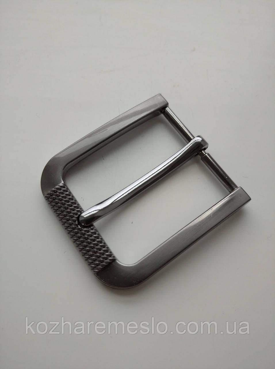 Пряжка литая для ремня 40 мм тёмный никель