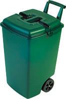Бак пластиковый с крышкой зеленый на колесиках 90 л 568Х428Х717 мм Curver CR-0056