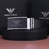 Мужской кожаный Ремень Giorgio Armani, фото 7