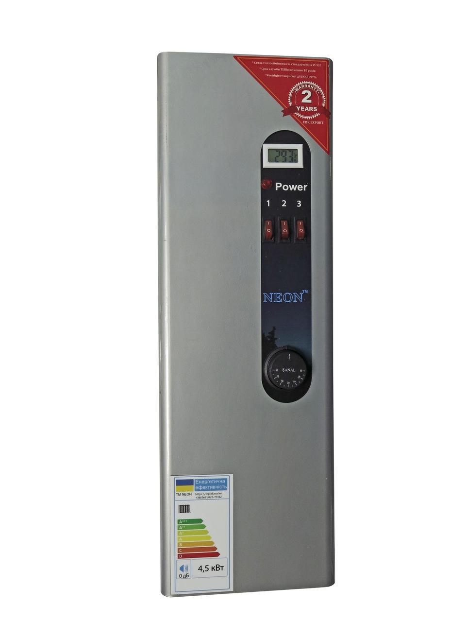 Електричний котел NEON WCS 9.0 кВт, 220/380 В, модульний контактор