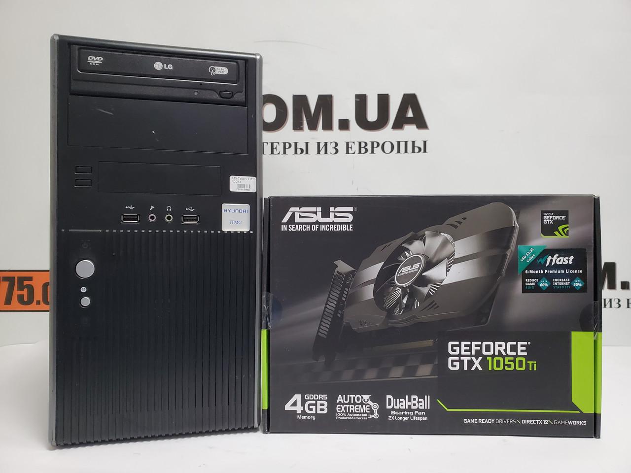 Игровой компьютер EuroCom, Intel Core i7-4790s 4.0GHz, RAM 8ГБ, SSD 120ГБ, HDD 500ГБ, GTX 1050Ti 4GB