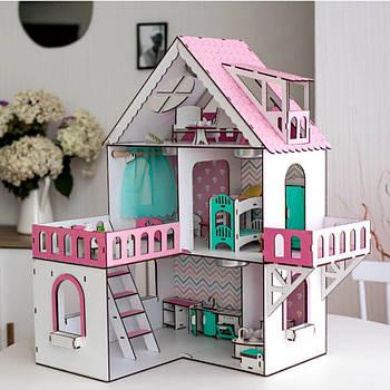 Кукольный домик NestWood Мини коттедж для ЛОЛ без мебели розовый (kdl001)