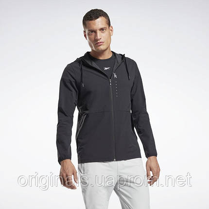 Толстовка мужская Reebok Hudi Performance Zip Up GJ6416 2021, фото 2
