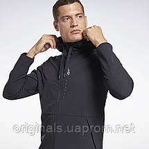 Толстовка мужская Reebok Hudi Performance Zip Up GJ6416 2021, фото 3