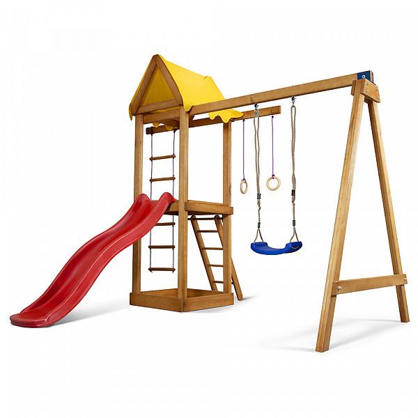 Дитячий спортивний дерев'яний майданчик Babyland-18, розмір 2,4х1,8х3.1м