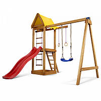 Дитячий спортивний дерев'яний майданчик Babyland-18, розмір 2,4х1,8х3.1м, фото 1