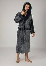 Махровий чоловічий халат. Бамбук 100% бавовна
