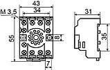 PF113A колодка под реле МК3P, фото 3