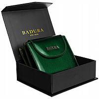 Гаманець жіночий лаковий маленький зелений Badura B-41373P-SH Green