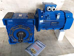 Червячный мотор-редуктор NMRV-150 1:40 с 3 квт 1000 об.мин  на выходе вала редуктора 25 об.мин, фото 2