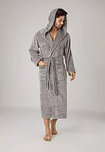 Махровий чоловічий халат . Бамбук 100% хлопок