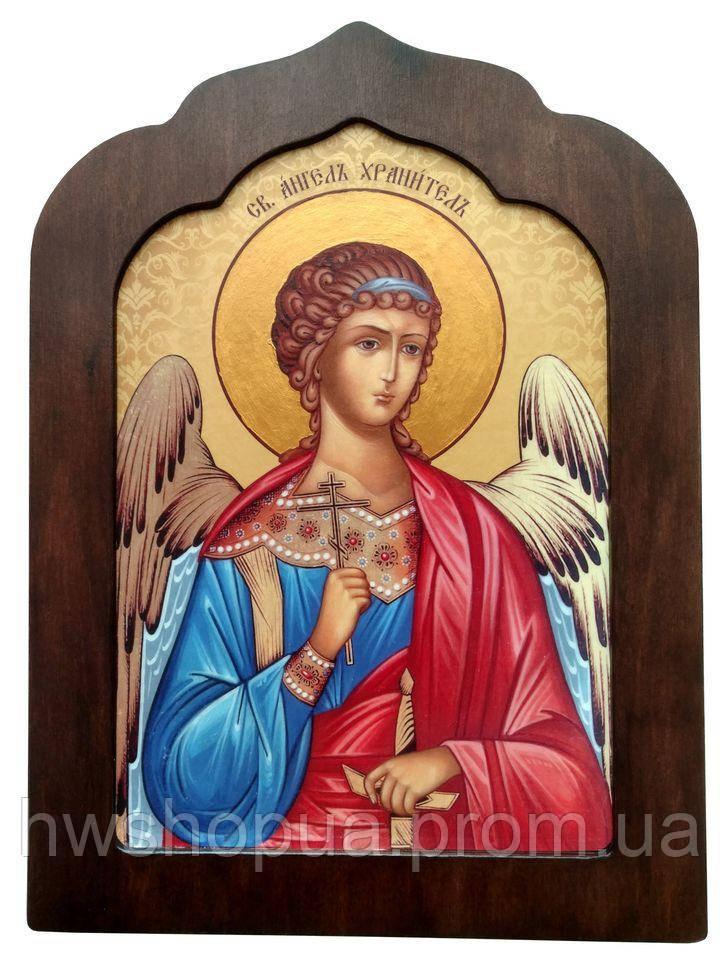 "Ікона на дошці ""Ангел охоронець -019"""