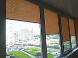 Рулонні штори Lazur. Тканинні ролети Лазур (Ван Гог) Какао 2076, 54, фото 2