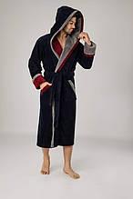 Чоловічий халат довгий , велюр