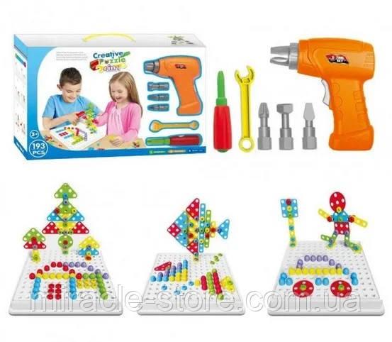 Конструктор Tu Le Hui Creative Puzzle 4в1 чемодан 193 детали TLH-28