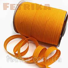 Косая-бейка хлопковая оранжевая, 15 мм