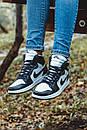 Женские кроссовки Nike Air Jordan Retro1 Black White, фото 2