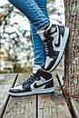 Женские кроссовки Nike Air Jordan Retro1 Black White, фото 6