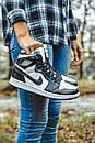 Женские кроссовки Nike Air Jordan Retro1 Black White, фото 9