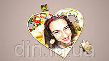 """Фото-Пазл """"Сердце"""" с подставкой"""