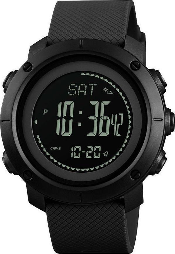 Skmei 1427 чорні з компасом чоловічі спортивні годинник