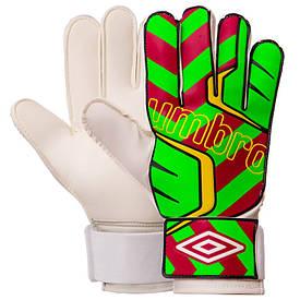 Перчатки вратарские UMBRO зелёно-красные FB-840, 10