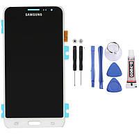Экран, дисплей, модуль Samsung Galaxy J3 2016г, J320F, J320FN, J320M белый, фото 1