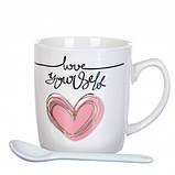 Чашка Сердечко 200 мл. Рандомный выбор дизайна, фото 4