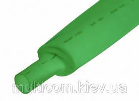 16-00-885GN. Термоусадка 100/50мм W-1-H (2х), матовая, подавляющая горение, зеленая, 1м