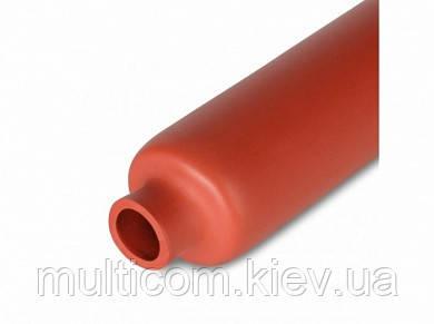 16-00-887RD. Термоусадка 100/50мм W-1-H (2х), матова, із пригніченням горіння, червона, 1м
