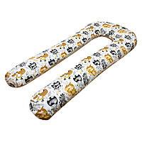 U-образная двусторонняя подушка для беременных Малышастик Зверята Big 1,5 м