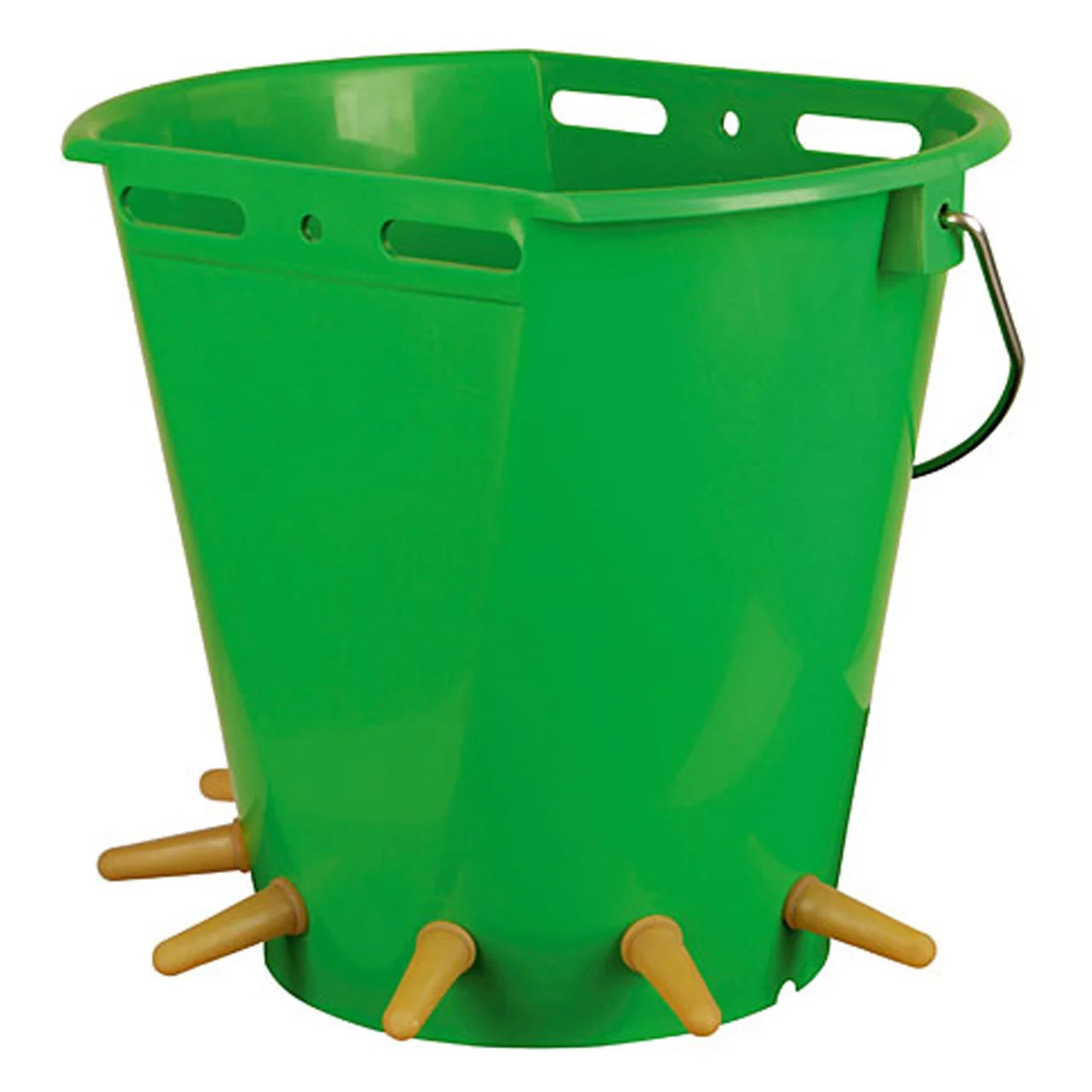 Пластиковое ведро-кормушка с сосками для молодняка