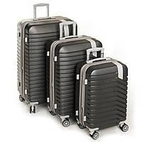 Комплект дорожных чемодан 3 размера 8341 grey, фото 1