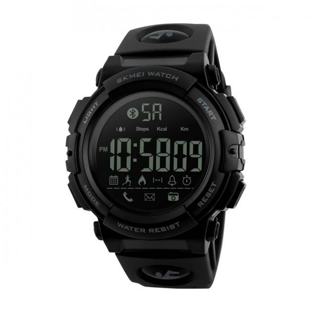 Skmei 1303 черные с черным  мужские спортивные часы