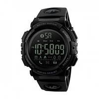 Skmei 1303 черные с черным  мужские спортивные часы, фото 1