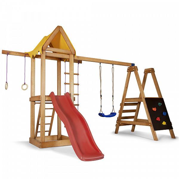 Детская спортивная деревянная площадка Babyland-20, размер 2,4х1,54х3.76м