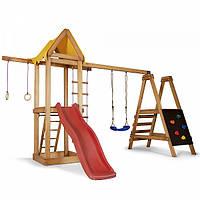 Детская спортивная деревянная площадка Babyland-20, размер 2,4х1,54х3.76м, фото 1