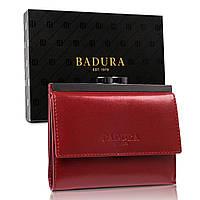 Кошелек женский кожаный на кнопке красный Badura B-50212-BSVT Red, фото 1