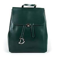 Женский рюкзак кожаный ALEX RAI  360 green, фото 1