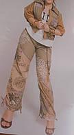 Брюки из хлопка цвета хаки с рисунком  Giani Forte