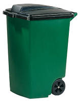 Бак пластиковый с крышкой зеленый на колесиках 100 л 600Х470Х750 мм Curver CR-0057