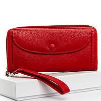 Красный женский кошелек кожа DR. BOND WS-098 red, фото 1