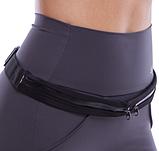 Сумка-чохол на пояс для бігу 2 кишені Чорна, фото 2