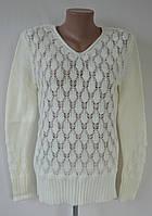 Ажурная теплая вязаная женская кофта на 46-48 размер