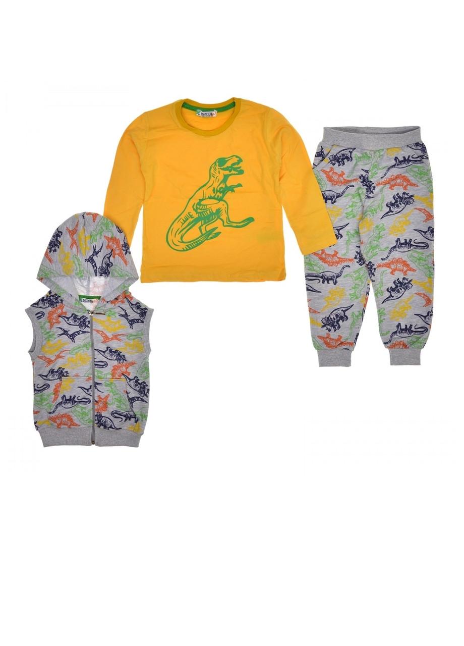 Костюм тройка мальчику (жилетка, реглан, брюки)