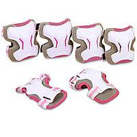 Защита для взрослых наколенники, налокотники, перчатки ZELART SK-4677 GRACE(р-р L, цвет розовый)