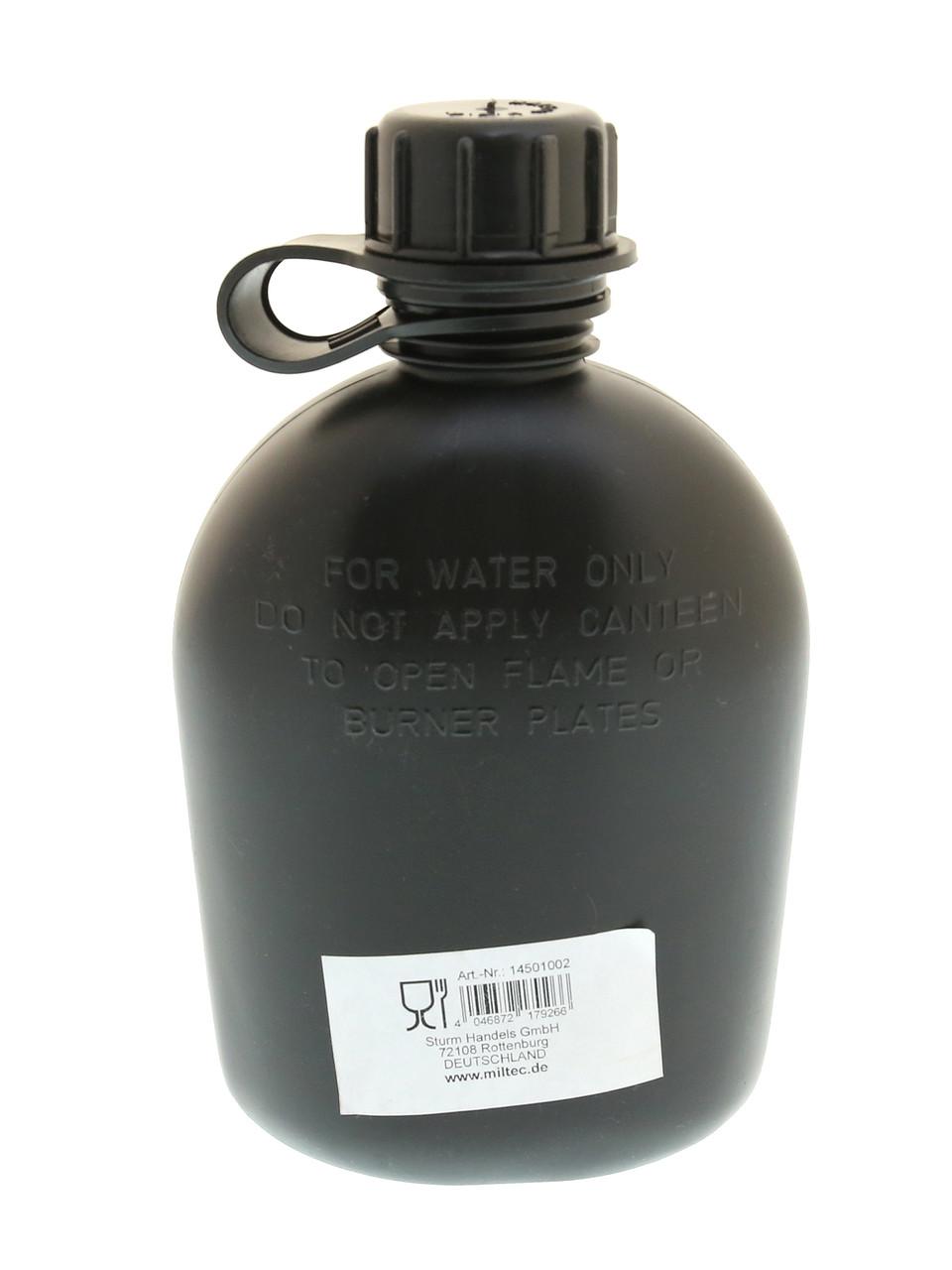 Фляга армейская пластик  MIL-TEC 1Qt Black 14501002