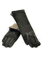PODIUM Перчатка Женская кожа F25-17/2 33см мод2 black шерсть